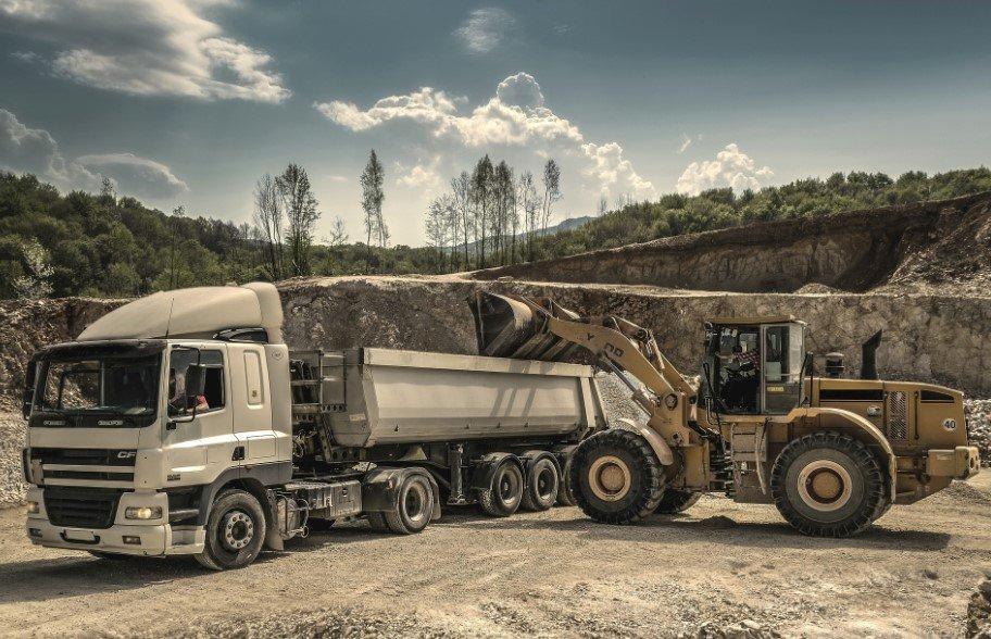construction sand trucks